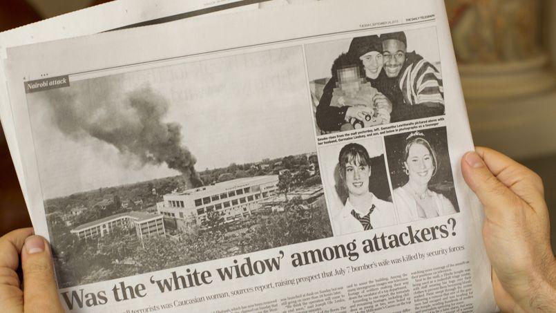 """En su edición de hoy, <i> Daily Telegraph </ i> se refiere a la posible participación de la """"viuda blanca"""" en el atentado de Nairobi. <i> </ I>"""