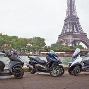 Les scooters trois roues ont toujours la cote