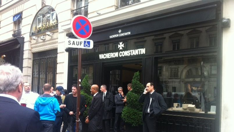 La boutique Vacheron Constantin de la rue de la Paix ce midi.
