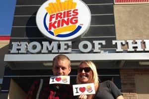 Une des photos postée sur le compte Facebook de Burger King.