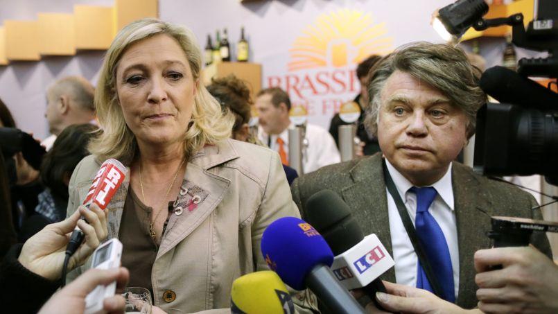 Marine Le Pen et Gilbert Collard en février au salon de l'agriculture à Paris.