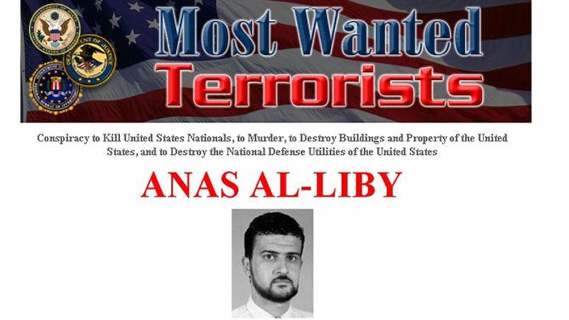 Capture d'écran de la page du FBI consacrée à Abou Anas al-Libi