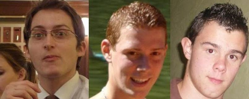 Clément Musso, 20 ans, Antoine Morand, 21 ans et Nicolas Jon, 23 ans.