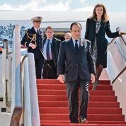 Hollande arrive en Afrique australe