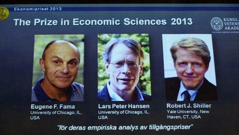 Les lauréats du Prix Nobel d'économie.
