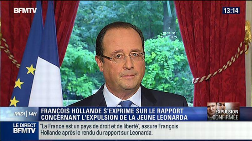 François Hollande, samedi. (capture écran BFMTV)