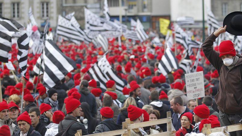 Manifestation à Quimper, le 2 novembre.