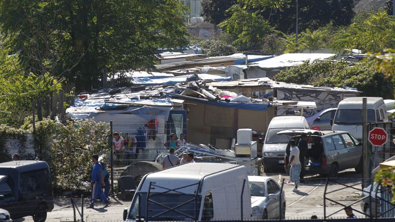 Le camp rom de Saint-Ouen, le 24 septembre dernier.