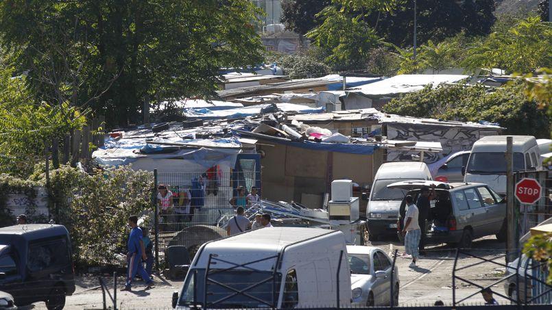 Le camp rom de Saint-Ouen, le 24 septembre dernier.