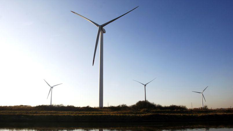 Un parc d'éoliennes à Dunkerque.