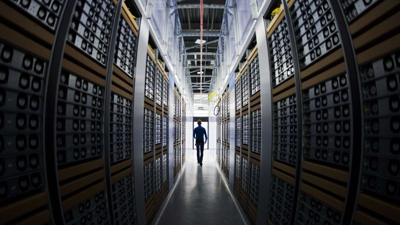 Un centre de données Facebook, à Luleå (Suède).