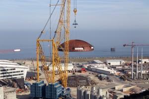 Le chantier emblématique d'EDF à Flamanville. (Crédit: AFP/C. Triballeau)