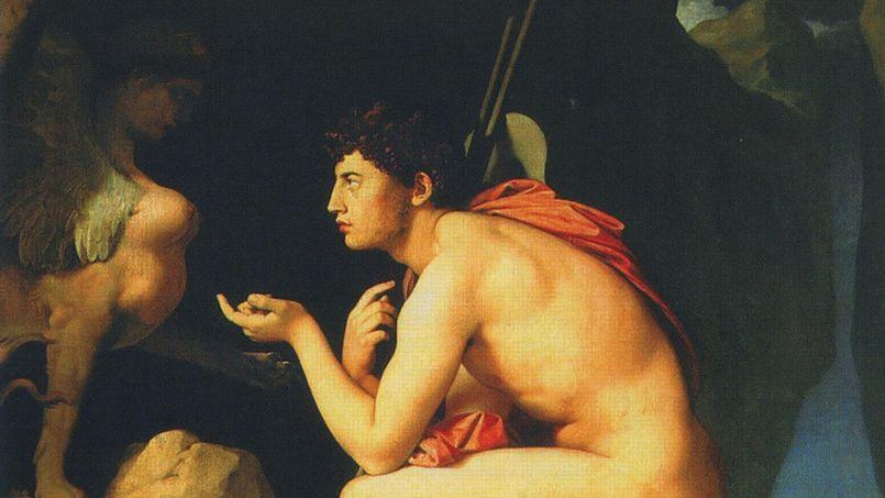 <i></i>Le somptueux<i> Œdipe et le Sphinx</i>peint par Ingres entre 1808 et 1825 va remplacer<i> la Liberté guidant le peuple</i> de Delacroix (1830) qui va retourner sur ses cimaises parisiennes.