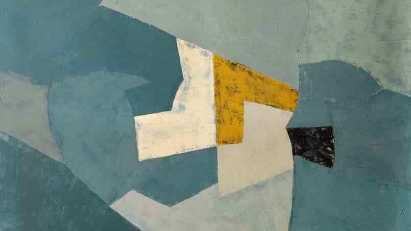 Les toiles de Poliakoff, abstraites et colorées, refusent l'illusion de la troisième dimension. Très réfléchies dans leur construction, elles sont immédiatement reconnaissables et s'imposent auprès du public dès 1950 («Composition au fond bleu», 1954).