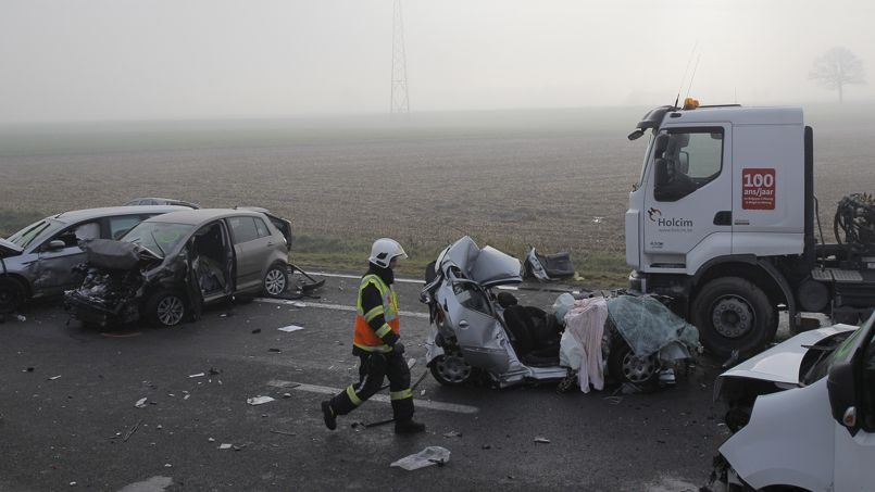 Les images témoignent de la violence des collisions.