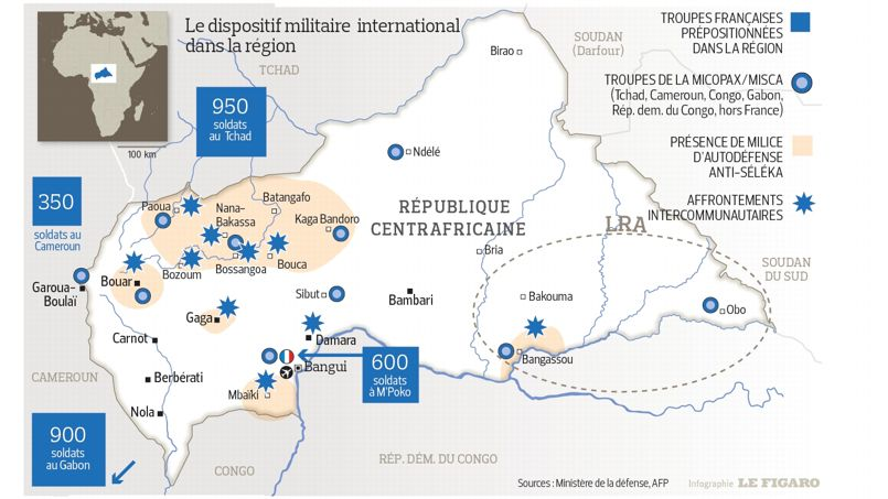 CENTRAFRIQUE: L'OPERATION FRANCAISE