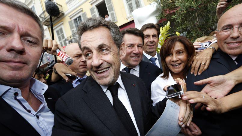 Nicolas Sarkozy, lors d'un déplacement à Nice, en septembre.