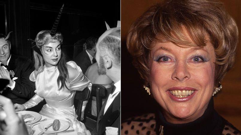 À gauche, France Roche dans une soirée déguisée en 1951. À droite, en 1992 sur France 2.