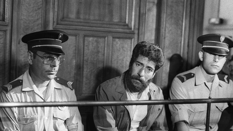 George Ibrahim Abdallah au moment de son procès à Lyon, le 3 juillet 1986.