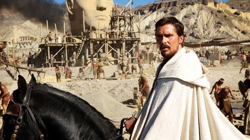 Après avoir revêtu la cape de Batman pour Christopher Nolan, Christian Bale enfile la toge de Moïse pour Ridley Scott.