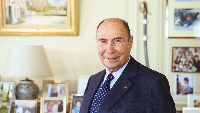 Serge Dassault, président du groupe Figaro.