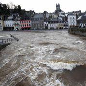 Inondations : le niveau des eaux se stabilise dans le Finistère