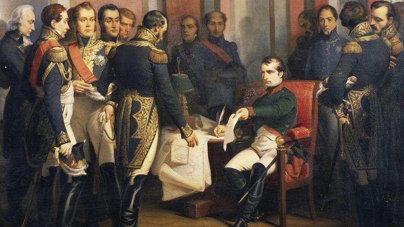 Napol on la v rit sur son abdication - Table des marechaux fontainebleau ...