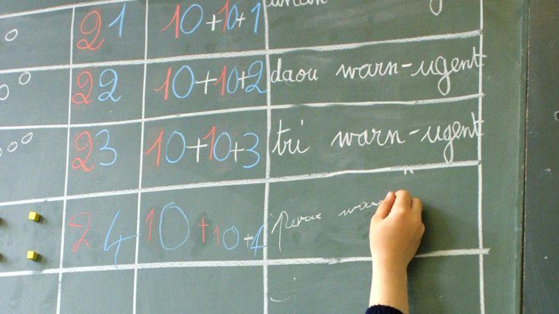 Cours de breton dans une école Diwan. Avec 35.000 élèves inscrits en 2011-2012, c'était la troisième langue la plus enseignée.