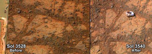 Mars: une pierre surgie de nulle part surprend la Nasa