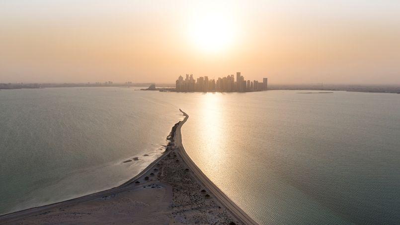 Quoi de plus magique, pour une dernière soirée, que ce coucher de soleil sur la skyline de Doha.