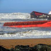Cargo échoué à Anglet : sauvetage «exceptionnel» de l'équipage
