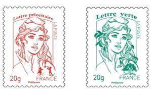 Le timbre dit «Marianne de la Jeunesse».