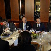 Déjeuner sous haute sécurité pour Hollande et les boss du net
