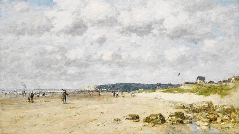 <i>Bénerville, La Plage </i>par Eugène Boudin, 1890.