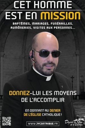 L'affiche décalée du diocèse de Gap et d'Embrun.