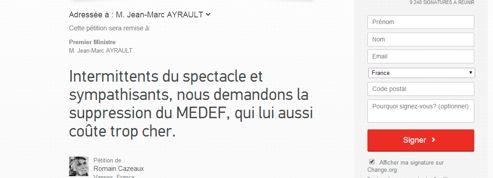 Intermittents : une pétition pour la suppression du Medef !