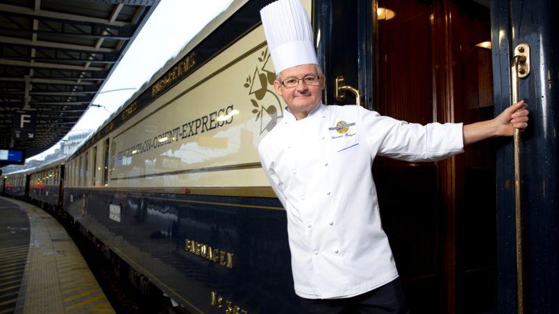 Christian Bodiguel, chef cuisinier des trois wagons-restaurants du Venice Simplon Orient-Express.