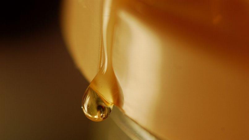 En surface, certains verres coulent comme du miel