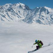Rire et glisse sous le Mont-Blanc