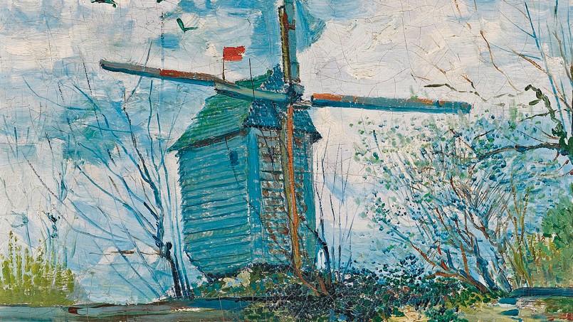 <i>Le Moulin de la Galette</i> (détail), Vincent van Gogh, 1887.