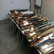 Trafic d'armes démantelé: 76 gardes à vue et des armes de guerre saisies