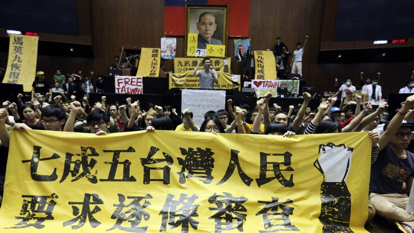 Les indignés du Parlement contre la «vente» de Taïwan à la Chine