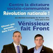 Vénissieux : l'affiche qui fait la synthèse entre Pétain et Dieudonné