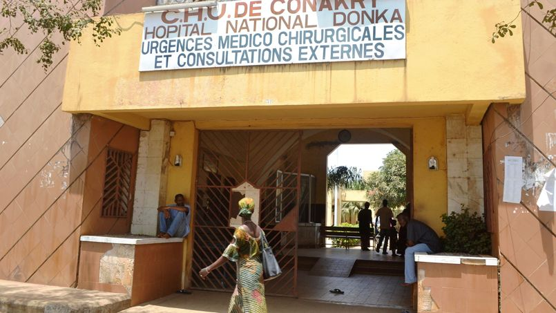 Hôpital Donka de Conakry, ce jeudi.