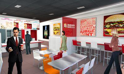 Ici, le burger est roi, la déco, elle, est minimaliste. (DR.)