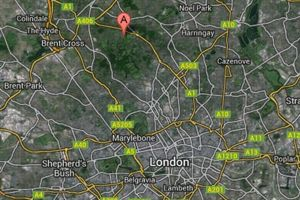 The Bishops avenue est située au nord de Londres. Crédits photo: Google Maps.