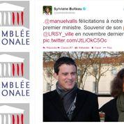 Une députée socialiste félicite Manuel Valls avant qu'il ne soit nommé à Matignon