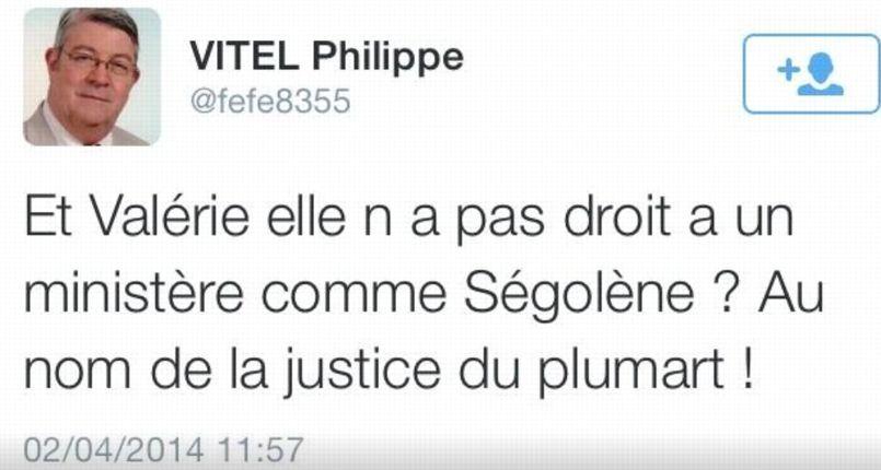 Tweet de Philippe Vitel