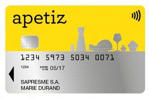 Natixis Intertitres est le seul émetteur a avoir créé une nouvelle marque, Apetiz, pour sa carte. Crédit: DR