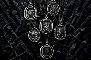 Les pendentifs Game of Thrones de la marque Pyrrha. ©Pyrrha/HBO Licensing